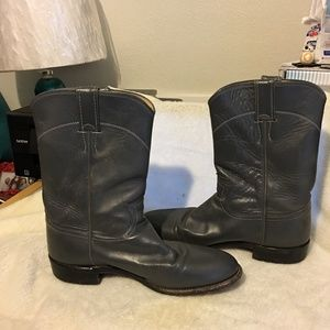 Justin Roper Boots Ladies Gray 9A